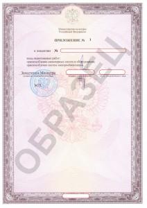 Образец лицензии на реставрацию