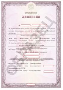 Образец лицензии Министерства культуры