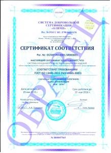 образец ISO 13485