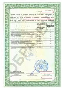 Образец лицензии на отходы