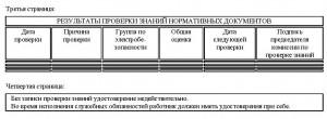 Образец удостоверения для инспектирующего персонала, 3-4 страницы