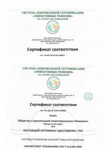 Сертификат ГОСТ Р 12.0.007 с голограммой